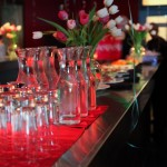 Red Room - The Mark - Event Planning - red room party set up