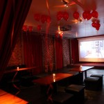 Red Room - The Mark - Event Planning - red room using screen,red balloons