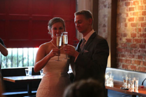 Red Room - The Mark - Event Planning - red room wedding toast