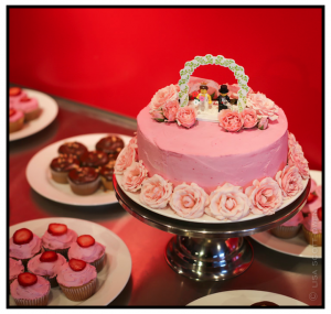 strawberries n cream wedding/roses