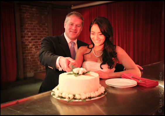 cake cutting, wedding , the mark, red room
